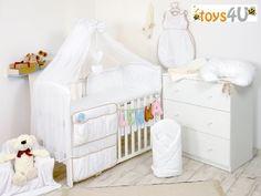 7tlg Babybettwäsche 135x100cm (weiß) Kinderbettwäsche Bettwäsche Himmel Nestchen Set toys4u http://www.amazon.de/dp/B00FNS2EMQ/ref=cm_sw_r_pi_dp_oDW7tb0124VRE