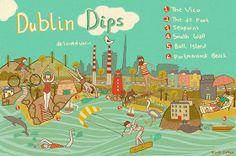 Dublin's best swimming spots Life Touch, Visit Dublin, Irish Singers, Honeymoon Fund, Best Swimming, Central Europe, Scotland Travel, Map Art, Paint Designs