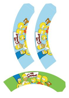 This template is an awesome one for water bottles and birthday bottles! Simpsons Party, Cake Liner, Funny Cake, Twin Birthday, 3d Paper Crafts, Diy Origami, Cupcake Wrappers, Party Themes, Party Ideas