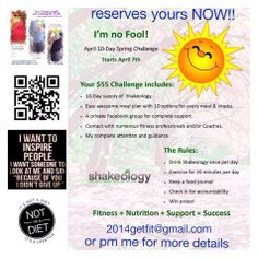 Email 2014getfit@gmail.com  or polarbearfitness2014@gmail.com for details #weightloss #diet #shakeology #exercise