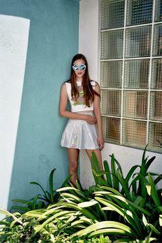 Holographic Skater Skirt by HomeCookedKarma on Etsy