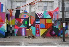 'Inspired by Delaunay' Maya Hayuk - Normal 2011