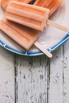 Ginger-Grapefruit Popsicles. With a splash of tequila and a swirl of buttermilk. Sweet, tangy, creamy, boozy. Everything you need to beat the heat this summer!