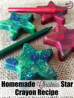 Homemade Star Shaped Glitter Crayons - Beauty Through Imperfection