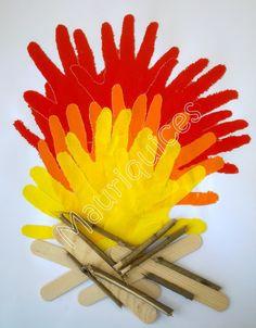 Mauriquices: A fogueira já está a arder!!!                                                                                                                                                                                 Mais Preschool Camping Activities, Toddler Activities, Holi Theme, Bonfire Night Crafts, Fireworks Craft For Kids, Diy For Kids, Crafts For Kids, School Board Decoration, Fire Crafts