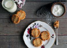Vegan vanilla, peanut butter & coconut cookies — bonnie delicious