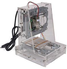 Mini Laser 200-250mW Engraving Machine DIY Carving Logo Picture Marking Printer #JG