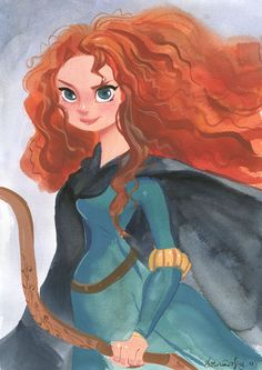 From Disney Fine Art: Merida By Victoria Ying