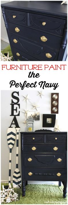 Awesome Navy furniture paint!