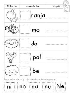 Mi Súper Cuadernillo de Sílabas -Orientacion Andujar Spanish Lessons For Kids, Spanish Teaching Resources, Learning Activities, Preschool Activities, Kids Learning, Bilingual Classroom, Bilingual Education, Science Worksheets, School Worksheets