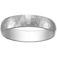 18K White Gold Canyon Ring, top view