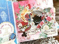 Alice In Wonderland Crafts, Album Photo, Craft Tutorials, Junk Journal, Halloween, Frame, Blog, Cards, Catwoman