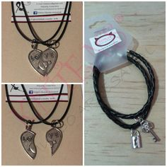 Collar y pulsera para parejas #KMACR #Collares #Pulseras www.facebook.com/kmacr