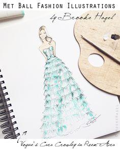 Met Gala Red Carpet Inspired Fashion Illustrations