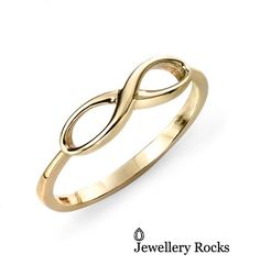 9ct Yellow Elements Gold Infinity Ring