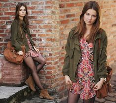 Coat, Dress, Oysho Shoes, House Bag