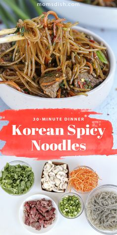 These Korean spicy noodles are the easiest dinner recipe ever! These Korean spicy noodles only take 30 minutes to make and are filled with veggies and meat. This recipe is filled with nutritious ingredients and perfect for any weekday. This recipe will be adored by your whole family, kids and adults. #koreanspicynoodles #koreansnoodles #easydinnerrecipes #dinnerrecipes #easymeals 30 Min Meals, 30 Minute Dinners, Quick Meals, How To Cook Beef, Easy Dinner Recipes, Dinner Ideas, Delicious Magazine, Easy Family Meals, Noodles