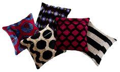 Madeline Weinrib - velvet ikat pillows. @Monique Otero