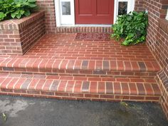 like to widen my steps, and have a brick planter like this