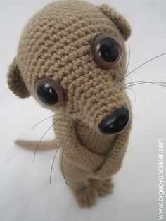 We love Meerkats with their smiles :)  This listing is for an amigurumi pattern, not the finished toy.  The pattern is complete with a lot of in-process photos to help you to make your...
