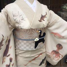 ★魚だらけの夏きもの・若冲魚群図★の画像 | ひめ吉半襟・デザイン日記 Grunge Style, Soft Grunge, Tokyo Street Fashion, Le Happy, Japanese Geisha, Japanese Kimono, Traditional Fashion, Traditional Dresses, Mori Girl