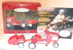 Check out 1998 #RedMurrayTractorTrailer 1955 Style #HallmarkKeepsakeOrnament MINT   http://ebay.to/1nKxeTo via @eBay #kiddiecartractor $7.99