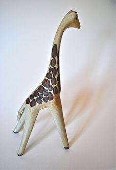 mid-century giraffe--how sweet in clay!!