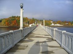 Footbridge in Belfast, Maine.  When I was growing up, this was the vehicle bridge. They narrowed part of it down when it was converted to the footbridge.  Did a lot of fishing here.  Caught a lot of crabs---not trying to.