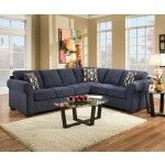 Simmons Upholstery - Lola Walnut / Desmond Bluegrass Sectional - 1685SEC  SPECIAL PRICE: $1,359.11