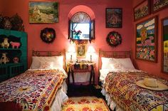 Quinta Quebrada, San Miguel de Allende, Mexico..... it is the colors and the embroidered flowers