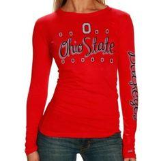 Amazon.com: NCAA Ohio State Buckeyes Ladies Scarlet Celebration Long Sleeve Tissue T-shirt: Clothing