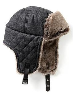 49c25f129df  BananaRepublic Faux-fur lined trapper hat Trapper Hats