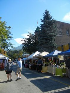 Wednesday Green Market in Nelson, BC