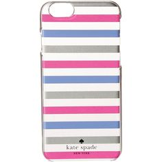 Kate Spade New York Watch Hill Stripe Resin Phone Case for iPhone 6... ($28) ❤ liked on Polyvore featuring accessories, tech accessories, multi and kate spade