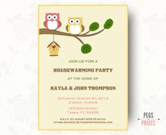 Housewarming Invites  Housewarming Invitation Printable  House