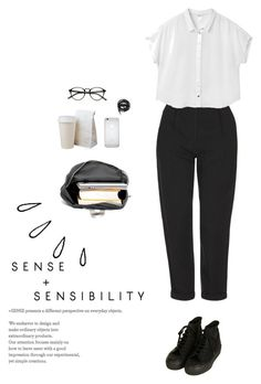 """""""University look"""" by djulia-tarasova ❤ liked on Polyvore featuring Urbanears, Topshop, Monki and Old Navy"""