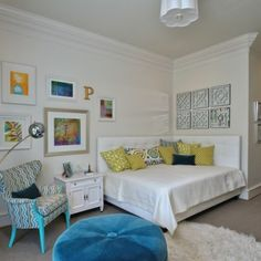 Eclectic Home teen bedrooms for girls Design Ideas Pictures Remodel and Decor----Love this corner bed! : corner bed headboard ideas  - pillowsntoast.com