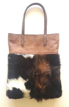 BOBBY XL HairyBrown Cowskin leather bag