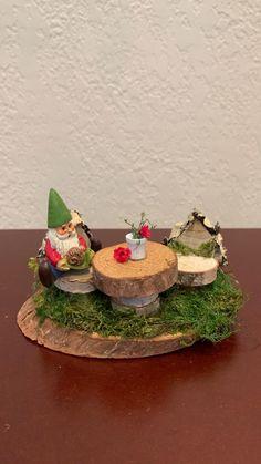 Fairy House Crafts, Fairy Tree Houses, Fairy Garden Houses, Garden Crafts, Fairy Gardening, Garden Dining Set, Fairy Garden Supplies, Fairy Furniture, Art Activities For Kids