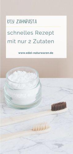 Zahnbürste und Zahnpasta schaden der Umwelt durch ihr Plastik. Aber: Zahnpasta kannst du ganz einfach selbst herstellen. Ich verrate dir das Rezept dazu. Erforderlich sind lediglich Kokos-Öl aus biologischem Anbau und Natronpulver. Zahnpasta DIY |  Zahnpasta selber machen | Zahnpasta Selber machen Natron | Zahnpasta selber machen Kokos | Zahnpasta für weiße Zähne | Zahnpasta aufbewahren | plastikfrei leben |Unverpackt Einkaufen | Plastik vermeiden #sichgutestun Natural Remedies, Natural Care For Hair, Do Good, Dental Floss