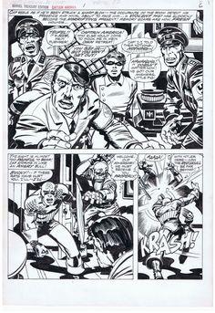 Kirby / Smith - Captain America Bicentennial Treasury - p6 BWS Comic Art