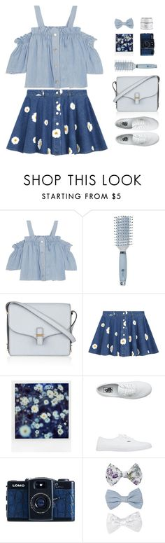 """""""Double Denim"""" by sweetpastelady ❤ liked on Polyvore featuring Steve J & Yoni P, Goody, Victoria Beckham, Chicnova Fashion, Polaroid, Vans, Lomography, New Look and GlamGlow"""