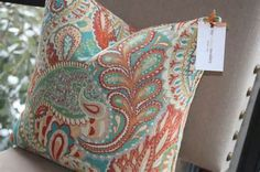Turquoise And Coral Bedding.... This needs to a comforter!!!!!!