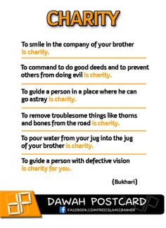 Hadith about Charity in ISLAM