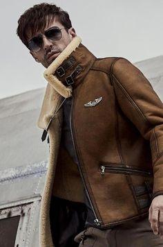 Mens Shearling Jacket, Mens Fur, Men's Leather Jacket, Bomber Jacket Men, Fur Jacket, Fur Coat, Mens Fashion Blazer, Aviator Jackets, Winter Outfits Men