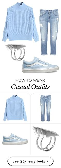 """""""casual outfits"""" by cupackesandunicorns on Polyvore featuring WithChic, Vans, AG Adriano Goldschmied, First People First, women's clothing, women's fashion, women, female, woman and misses"""
