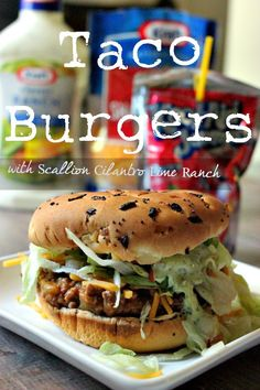 Taco Burgers?? Oh yes.  These are insanely delicious and a new spin on Taco Tuesday!