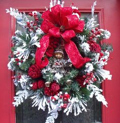 Christmas Wreath On Door | Christmas Door Wreath Magic Elf | Pretty wreaths