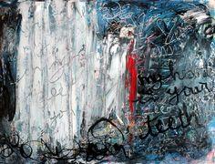 "Saatchi Online Artist: Mary C Farrenkopf Johnson; Acrylic, 2013, Painting ""My Heart is in Your Teeth"""