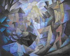 Jean Metzinger  Paysage cubiste (le Village), Cubism, Puteaux Group, Neo-Impressionism, Fauvism, Divisionism